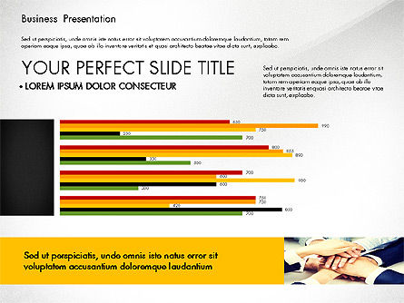 Professional Business Presentation with Data Driven Charts, Slide 2, 02927, Presentation Templates — PoweredTemplate.com