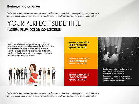 Professional Business Presentation with Data Driven Charts, Slide 4, 02927, Presentation Templates — PoweredTemplate.com