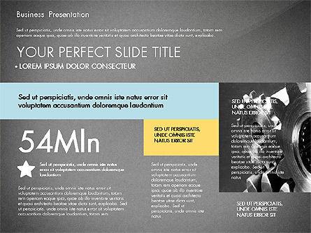 Professional Business Presentation with Data Driven Charts, Slide 9, 02927, Presentation Templates — PoweredTemplate.com