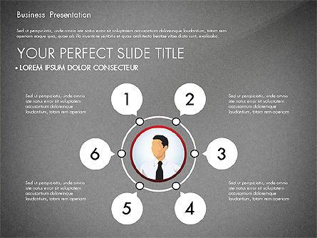 Business Presentation with Flat Designed Shapes, Slide 10, 02928, Presentation Templates — PoweredTemplate.com