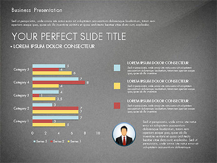 Business Presentation with Flat Designed Shapes, Slide 11, 02928, Presentation Templates — PoweredTemplate.com