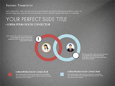 Business Presentation with Flat Designed Shapes, Slide 12, 02928, Presentation Templates — PoweredTemplate.com