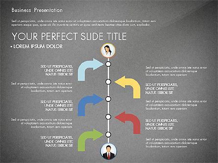 Business Presentation with Flat Designed Shapes, Slide 13, 02928, Presentation Templates — PoweredTemplate.com