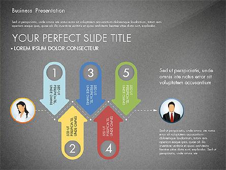 Business Presentation with Flat Designed Shapes, Slide 14, 02928, Presentation Templates — PoweredTemplate.com