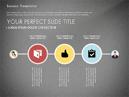 Business Presentation with Flat Designed Shapes, Slide 15, 02928, Presentation Templates — PoweredTemplate.com
