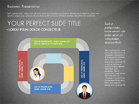 Business Presentation with Flat Designed Shapes, Slide 16, 02928, Presentation Templates — PoweredTemplate.com