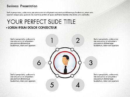 Business Presentation with Flat Designed Shapes, Slide 2, 02928, Presentation Templates — PoweredTemplate.com