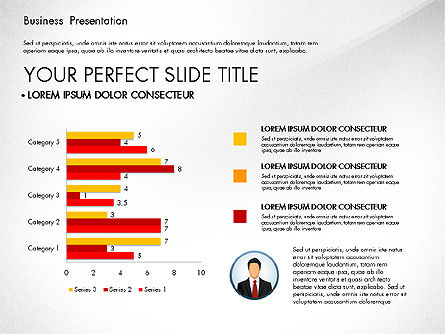 Business Presentation with Flat Designed Shapes, Slide 3, 02928, Presentation Templates — PoweredTemplate.com