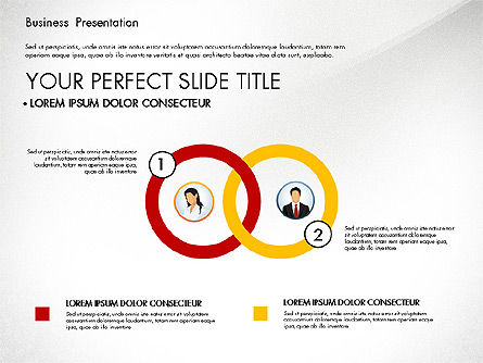 Business Presentation with Flat Designed Shapes, Slide 4, 02928, Presentation Templates — PoweredTemplate.com