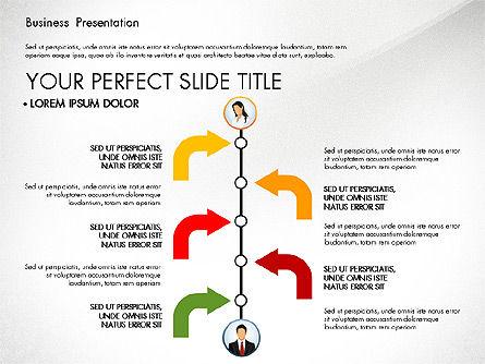 Business Presentation with Flat Designed Shapes, Slide 5, 02928, Presentation Templates — PoweredTemplate.com