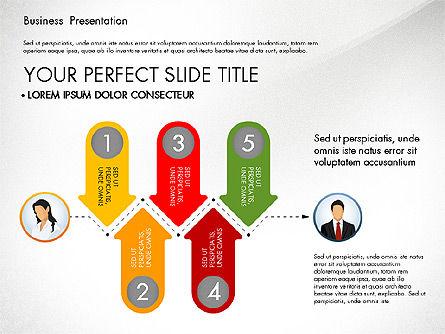 Business Presentation with Flat Designed Shapes, Slide 6, 02928, Presentation Templates — PoweredTemplate.com