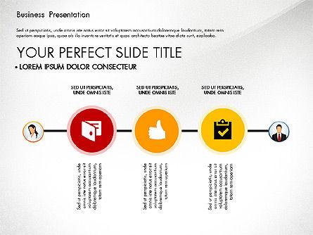 Business Presentation with Flat Designed Shapes, Slide 7, 02928, Presentation Templates — PoweredTemplate.com