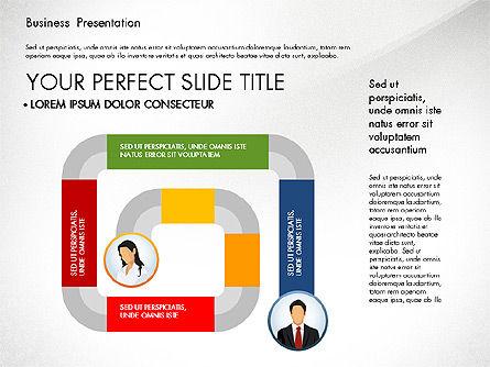 Business Presentation with Flat Designed Shapes, Slide 8, 02928, Presentation Templates — PoweredTemplate.com
