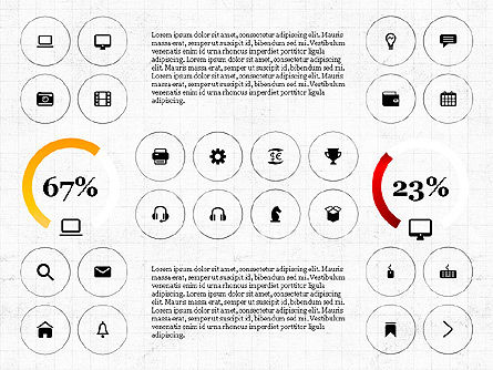 Infographics with Icons, 02930, Icons — PoweredTemplate.com