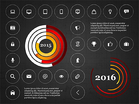 Infographics with Icons, Slide 12, 02930, Icons — PoweredTemplate.com