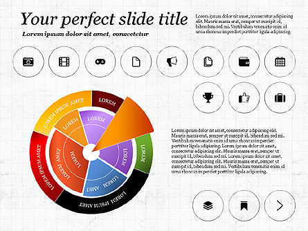Infographics with Icons, Slide 2, 02930, Icons — PoweredTemplate.com