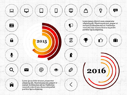 Infographics with Icons, Slide 4, 02930, Icons — PoweredTemplate.com