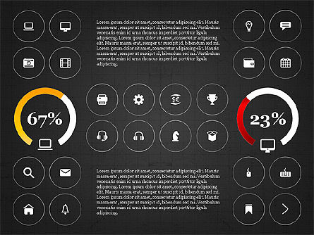 Infographics with Icons, Slide 9, 02930, Icons — PoweredTemplate.com
