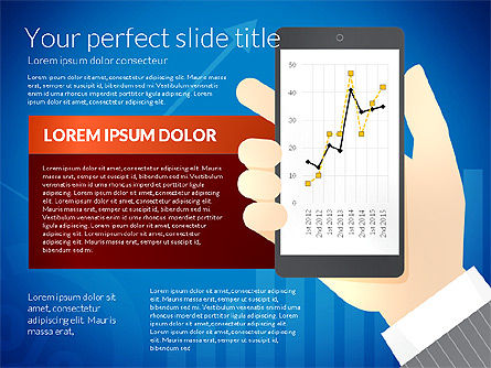 Data Driven Diagrams and Charts: Data Driven Presentation Template with Smartphone #02931