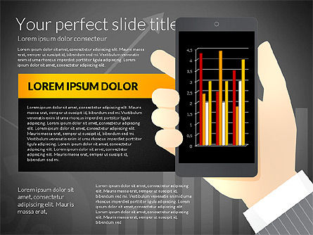 Data Driven Presentation Template with Smartphone, Slide 10, 02931, Data Driven Diagrams and Charts — PoweredTemplate.com