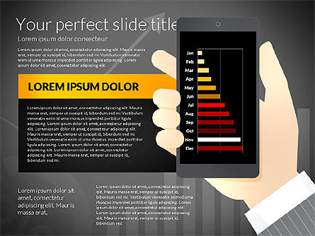 Data Driven Presentation Template with Smartphone, Slide 11, 02931, Data Driven Diagrams and Charts — PoweredTemplate.com