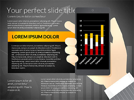 Data Driven Presentation Template with Smartphone, Slide 12, 02931, Data Driven Diagrams and Charts — PoweredTemplate.com