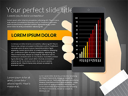 Data Driven Presentation Template with Smartphone, Slide 13, 02931, Data Driven Diagrams and Charts — PoweredTemplate.com