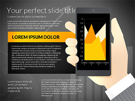 Data Driven Presentation Template with Smartphone, Slide 15, 02931, Data Driven Diagrams and Charts — PoweredTemplate.com