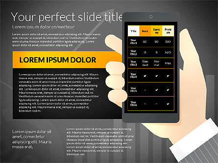 Data Driven Presentation Template with Smartphone, Slide 16, 02931, Data Driven Diagrams and Charts — PoweredTemplate.com