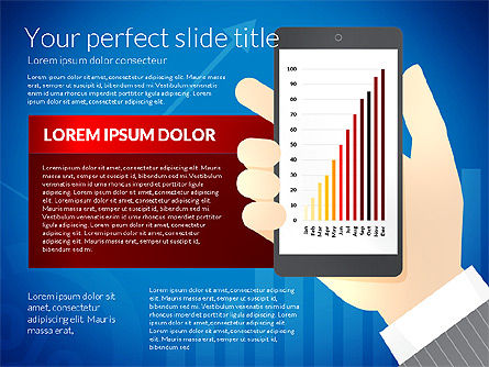 Data Driven Presentation Template with Smartphone, Slide 5, 02931, Data Driven Diagrams and Charts — PoweredTemplate.com