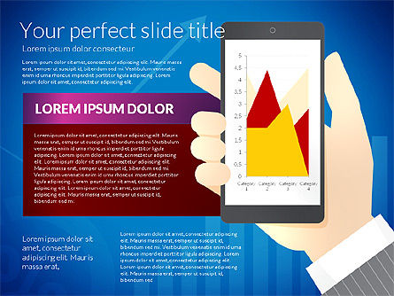 Data Driven Presentation Template with Smartphone, Slide 7, 02931, Data Driven Diagrams and Charts — PoweredTemplate.com