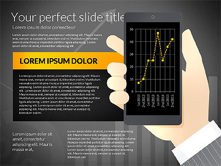 Data Driven Presentation Template with Smartphone, Slide 9, 02931, Data Driven Diagrams and Charts — PoweredTemplate.com