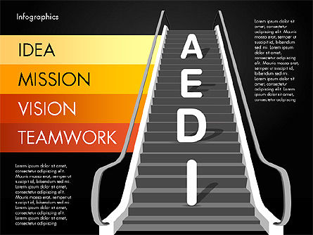 Steps to Success, Slide 10, 02932, Stage Diagrams — PoweredTemplate.com