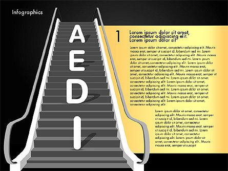 Steps to Success, Slide 11, 02932, Stage Diagrams — PoweredTemplate.com