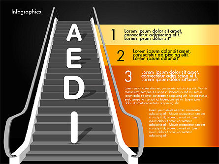 Steps to Success, Slide 13, 02932, Stage Diagrams — PoweredTemplate.com