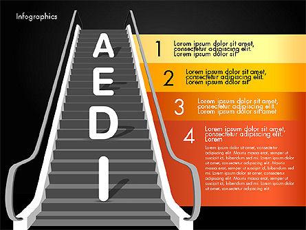 Steps to Success, Slide 14, 02932, Stage Diagrams — PoweredTemplate.com