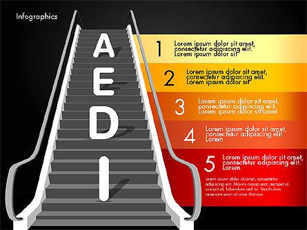 Steps to Success, Slide 15, 02932, Stage Diagrams — PoweredTemplate.com