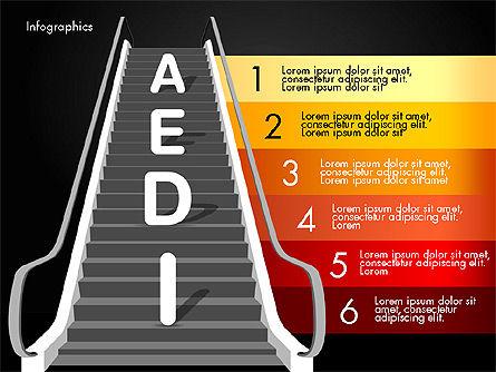 Steps to Success, Slide 16, 02932, Stage Diagrams — PoweredTemplate.com