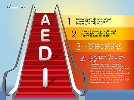 Steps to Success, Slide 6, 02932, Stage Diagrams — PoweredTemplate.com