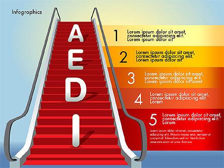 Steps to Success, Slide 7, 02932, Stage Diagrams — PoweredTemplate.com