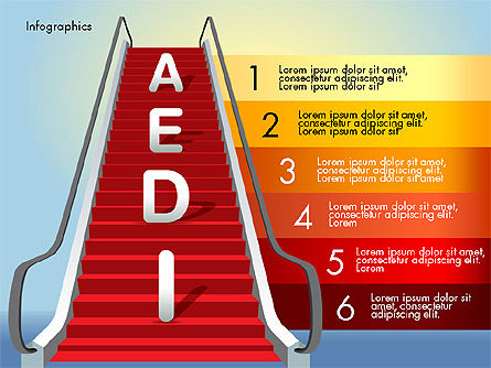 Steps to Success, Slide 8, 02932, Stage Diagrams — PoweredTemplate.com
