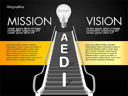 Steps to Success, Slide 9, 02932, Stage Diagrams — PoweredTemplate.com