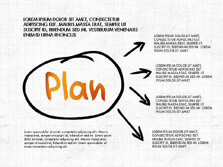 Business Plan Concept, 02933, Process Diagrams — PoweredTemplate.com