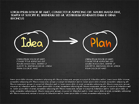 Business Plan Concept, Slide 15, 02933, Process Diagrams — PoweredTemplate.com
