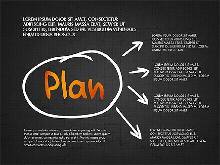 Business Plan Concept, Slide 9, 02933, Process Diagrams — PoweredTemplate.com
