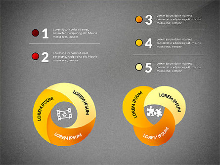 Mobius Strip Options Concept, Slide 13, 02936, Stage Diagrams — PoweredTemplate.com