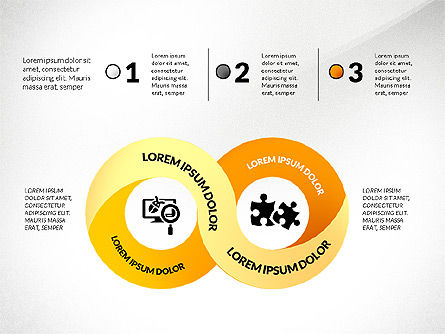 Mobius Strip Options Concept, Slide 3, 02936, Stage Diagrams — PoweredTemplate.com