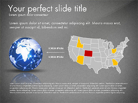 Global Network Presentation Template, Slide 14, 02937, Presentation Templates — PoweredTemplate.com