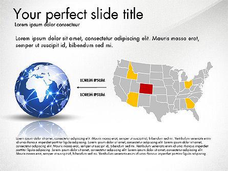 Global Network Presentation Template, Slide 6, 02937, Presentation Templates — PoweredTemplate.com