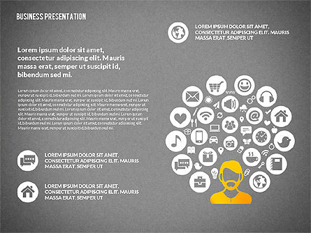 Creative Social Presentation Concept, Slide 13, 02938, Presentation Templates — PoweredTemplate.com